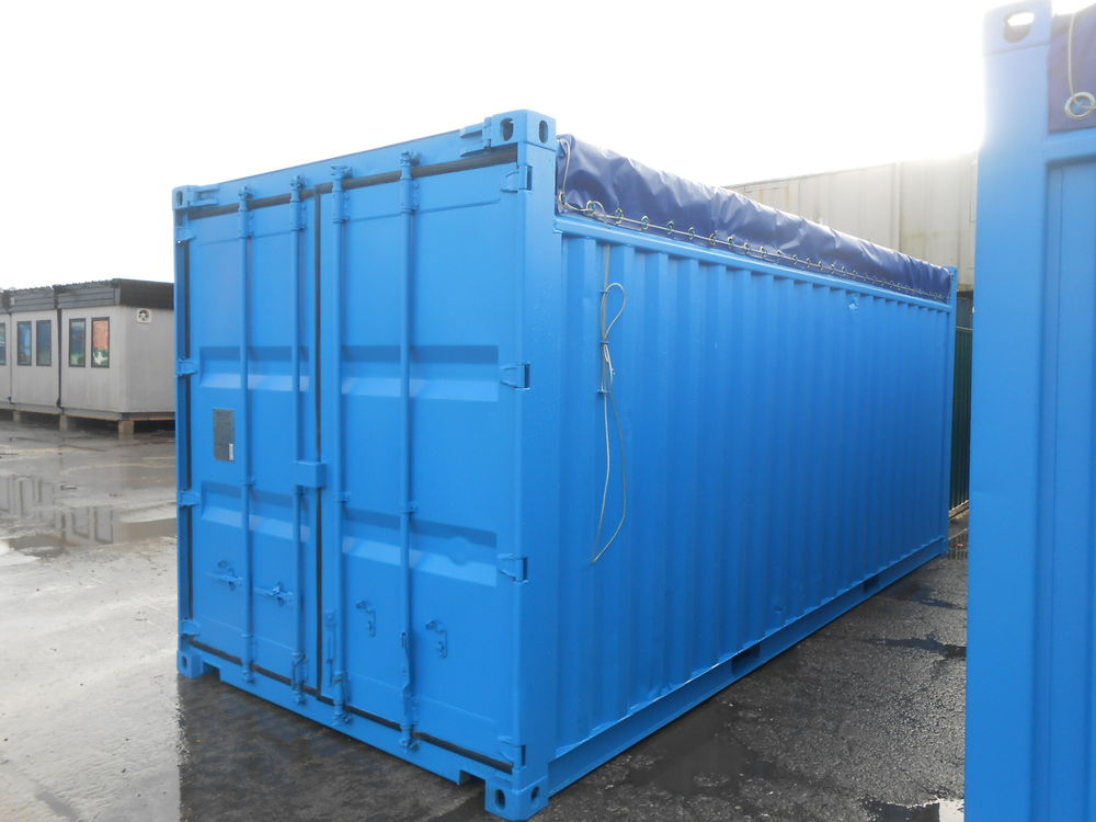 New 20' Open Top (OT) shipping container and storage container shipped from China to the USA.