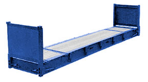 40' Flat Rack Shipping Container