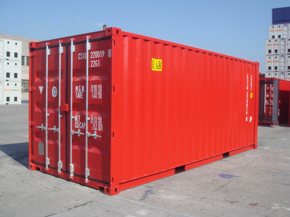 New 20' Shipping Container and storage container shipped from China to the USA.