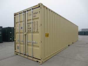 40' High Cube double door shipping or storage containers